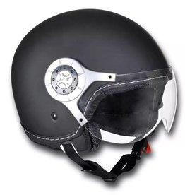 vidaXL Scooterhelm maat: M (zwart)