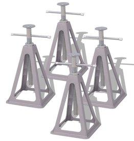 vidaXL Caravansteunen 285-430mm aluminium en staal 4 st