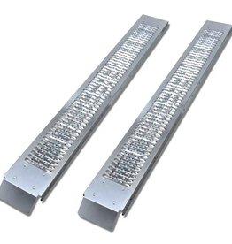 vidaXL Oprijplaten staal 450 kg 2 st