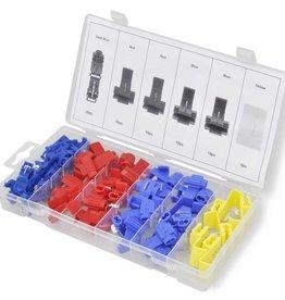 vidaXL Set zelfstrippende connectors 65 st