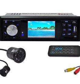 vidaXL Autoradio en achteruitrijcamera (set)