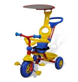vidaXL Kinderen Driewieler voor Kleine Kinderen Rood-Blauw-Geel