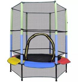 vidaXL Trampoline met veiligheidsnet 140 cm