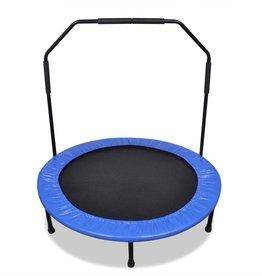 vidaXL Inklapbare mini trampoline met beugel 114 cm