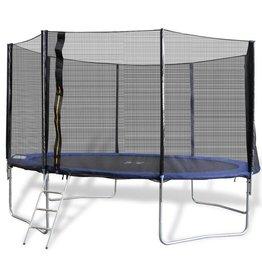 vidaXL Complete trampoline set Ø 3,96 m inclusief beschermhoes