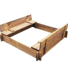 vidaXL Zandbak geïmpregneerd hout vierkant