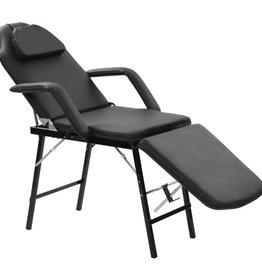 vidaXL Gezichtsbehandelingsstoel draagbaar 185x78x76 cm kunstleer zwart