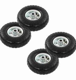 vidaXL Steekwagenwielen 4,10/3,50-4 (260x83) rubber 4 st