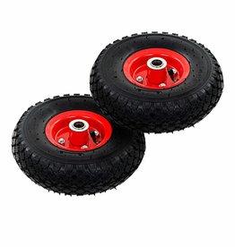 vidaXL Steekwagenwielen 3,00-4 (260x85) rubber 2 st