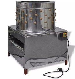 vidaXL Elektrische plukmachine voor pluimvee met 129 plukvingers 58 cm 2200 W