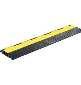vidaXL Kabelbeschermer drempel 2 tunnels 101,5 cm rubber