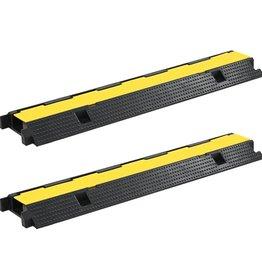 vidaXL Kabelbeschermer drempels 1 tunnel 100 cm rubber 2 st