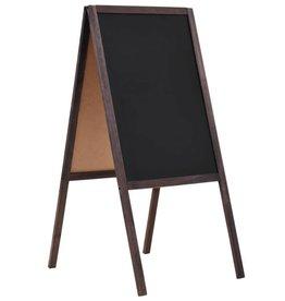 vidaXL Krijtbord dubbelzijdig vrijstaand 40x60 cm cederhout