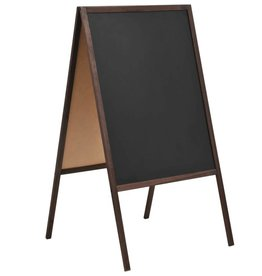 vidaXL Krijtbord dubbelzijdig vrijstaand 60x80 cm cederhout