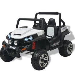 vidaXL Elektrische speelgoedauto voor 2 personen wit en zwart XXL