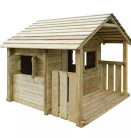 vidaXL Speelhuis met 3 ramen 204x204x184 cm hout