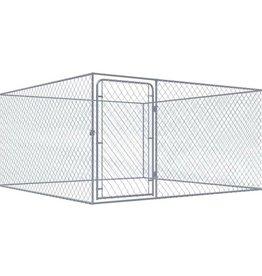 vidaXL Hondenkennel voor buiten 2x2 m gegalvaniseerd staal