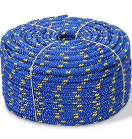 vidaXL Boot touw 6 mm 100 m polypropyleen blauw