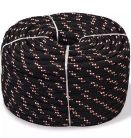 vidaXL Boot touw 8 mm 100 m polypropyleen zwart