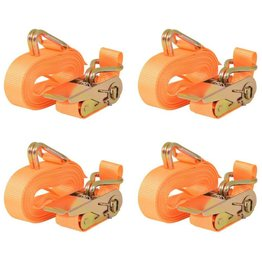 vidaXL Spanbanden 0,4 ton 6mx25mm oranje 4 st