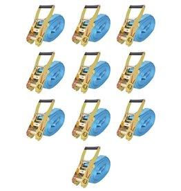 vidaXL Spanbanden 4 ton 8mx50mm blauw 10 st