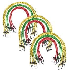 vidaXL Snelspanners 60/80/100 cm rood groen geel 30 st