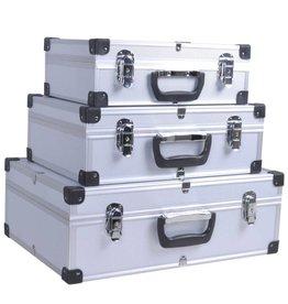 vidaXL 3-in-1 gereedschapskoffer met aluminium randen