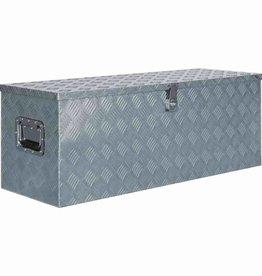 vidaXL Doos 110,5x38,5x40 cm aluminium zilverkleurig