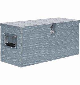 vidaXL Doos 80x30x35 cm aluminium zilverkleurig