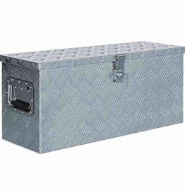 vidaXL Doos 76,5x26,5x33 cm aluminium zilverkleurig