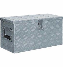 vidaXL Doos 61,5x26,5x30 cm aluminium zilverkleurig