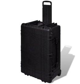 vidaXL Hardcase Transportkoffer 77,5x59x35 cm met wielen en 5 schuimlagen