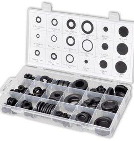 vidaXL Set met rubberen dichtingsringen afsluitringen en doppen 125 st
