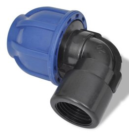 vidaXL PE slangkoppeling vrouwelijke elleboog 16 bar 32mm tot 1 inch (2 st)