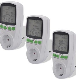 vidaXL 3 Energiemeters