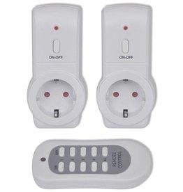 vidaXL 2 Draadloze stopcontacten met afstandbediening