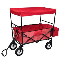vidaXL Opvouwbare transportkar met dak