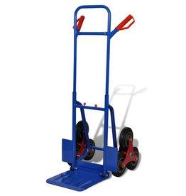 vidaXL Steekwagen met 6 wielen en 150 kg draagvermogen blauw/rood