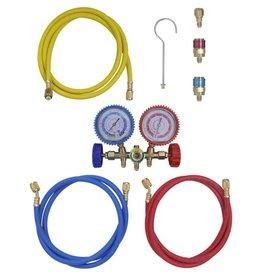 vidaXL Manometer set voor airco met 2-richtingen