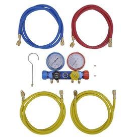 vidaXL Manometer set voor airco met 4-richtingen