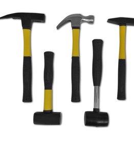 vidaXL Hamer set van 5 hamers met plastic handvat