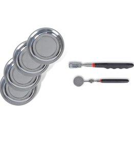 vidaXL Magnetische spiegel, bakjes en opraperset met LED