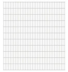 vidaXL Dubbelstaafmatten 2008 x 2230 mm 23 stuks (46 m) zilver