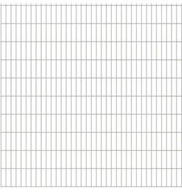 vidaXL Dubbelstaafmat 2008 x 2030 mm 48 m zilver 24 stuks
