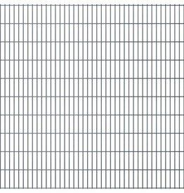 vidaXL Dubbelstaafmatten 2008 x 2030mm 44m Grijs 22 stuks