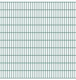 vidaXL Dubbelstaafmatten 2008 x 2030mm 50m Groen 25 stuks