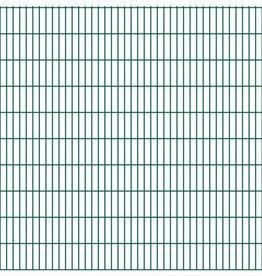 vidaXL Dubbelstaafmatten 2008 x 2030mm 46m Groen 23 stuks