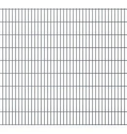 vidaXL Dubbelstaafmatten 2008 x 1830mm 48m Grijs 24 stuks