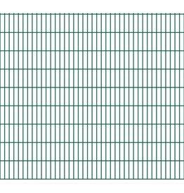 vidaXL Dubbelstaafmatten 2008 x 1830mm 50m Groen 25 stuks