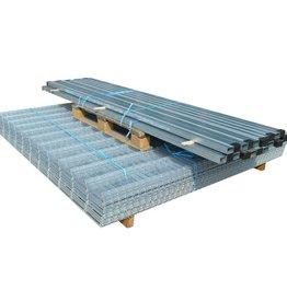 vidaXL Dubbelstaafmat 2008 x 1630 mm 38 m zilver 19 stuks